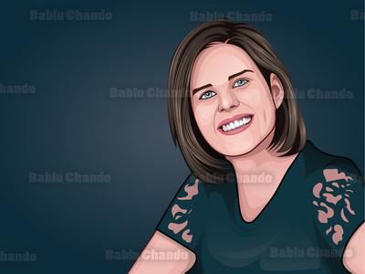 Cartoon portrait design cartoon portrait avatar digital painting portrait character vector portrait vector caricature cartoon illustration