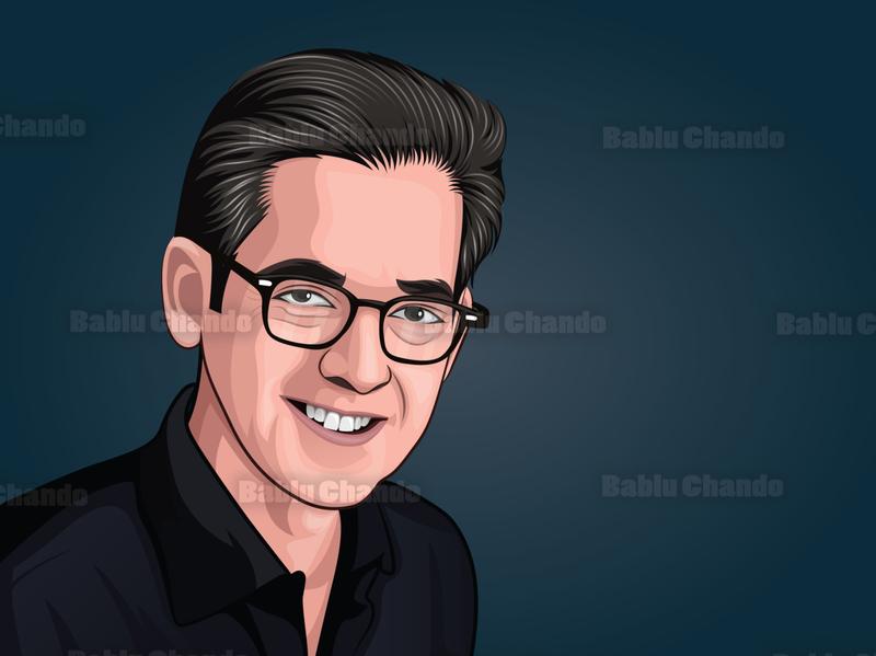 Cartoon portrait / Vector portrait for a Team avatar digitalart portrait digital painting vector portrait vector character cartoon caricature illustration