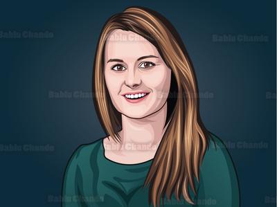 Cartoon portrait / Vector portrait for a Team mascot logo cartoon portrait portrait digital painting vector portrait vector character cartoon caricature illustration