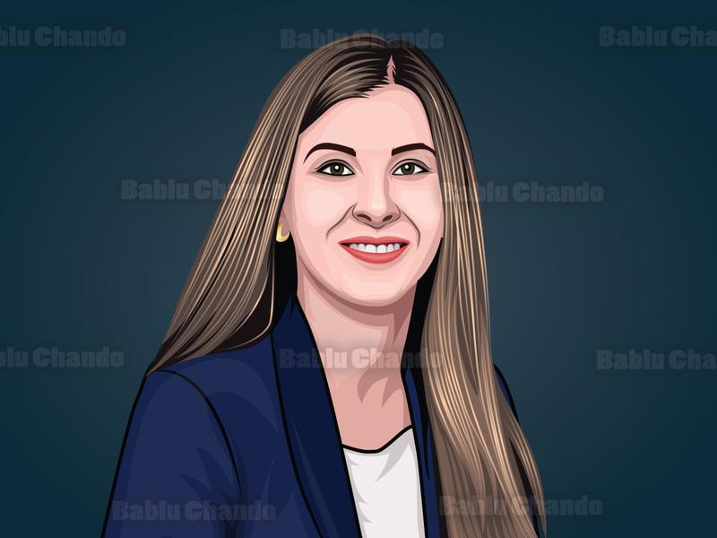 Cartoon portrait / Vector portrait for a Team avatar cartoon portrait portrait digital painting vector portrait vector character cartoon caricature illustration