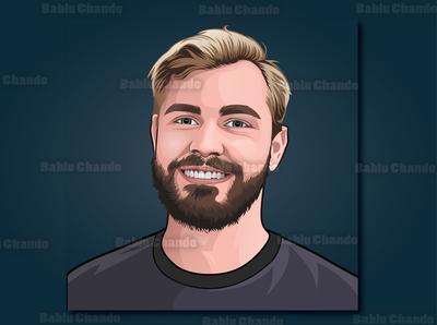Cartoon portrait / Vector portrait for a Team avatar portrait cartoon portrait digital painting vector portrait vector character cartoon caricature illustration
