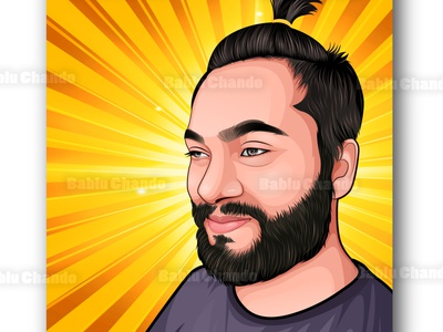 Vector portrait / Cartoon portrait mascot logo cartoon portrait portrait digital painting vector portrait vector character cartoon caricature illustration