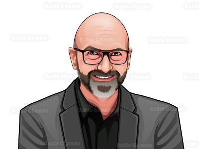 Realistic Cartoon portrait digitalart cartoon vector caricature character mascot logo illustration cartoon portrait digital painting vector portrait