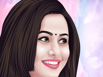 Soft Cartoon portrait for Purnima