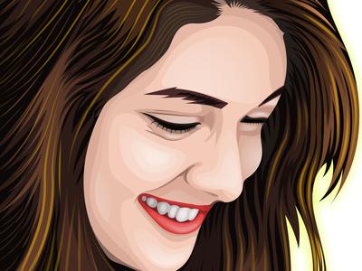 Beautiful cartoon portrait