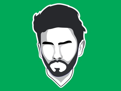 Minimalist flat Cartoon Avatar