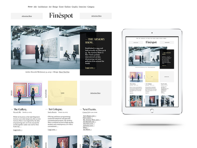 Finespot — On line Magazine good typo minimal web design magazine