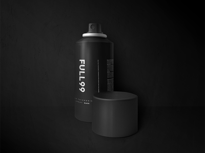 Full Packaging spray strong bold black packaging minimal
