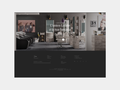 Meletti Footer website responsive hairdressers clean typo typo clean design minimal minimal design footer design footer