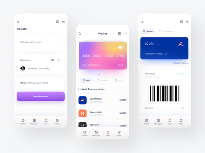 Banking application dailyui app design webdesign application mobile animation ux ios flat minimal ui design app