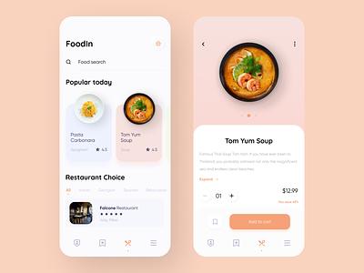 Food Service - Mobile App delivery app foodapp 2020 trend design flat minimal iosdesign iosapp ios uxdesigner uxdesign ux uiapp ui design uidesign ui application appdesigner appdesign app