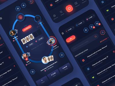 Poker App - Texas Hold'em appdesign uiux app ui ios app app design casino poker 2020 trend game app app game game design design ux flat minimal ios application ui app