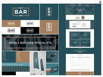 Event Bar Hire Branding website website design drink bar graphic design design pattern logo identity design identity branding