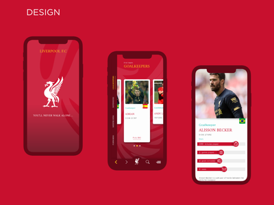 Liverpool F.C. App Concept xd xd design adobe photoshop adobexd adobe xd design parallax effect data visualization app design liverpool liverpool fc uiux uxdesign uidesign ux ui