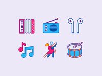 Music icons in Office Style