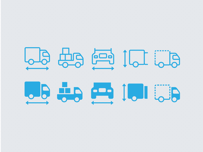 Truck specification Icons ios7 ios icons icons pack icon design