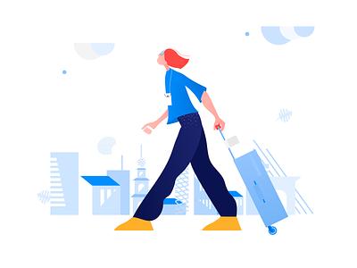 Clip Style: Travel Illustration minimal flat design web vector illustration