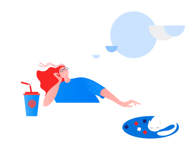 Clip Style: Dream Illustration web minimal illustration flat vector