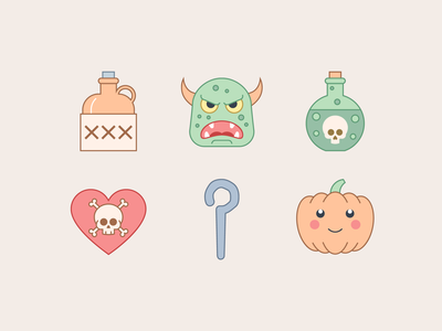 Halloween Icons in Office Style