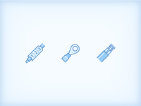 Blue Style: Computer Hardware Icons