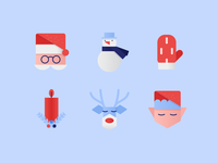 Holiday Icons in Clip Style