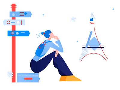 Clip Style design illustration flat vector