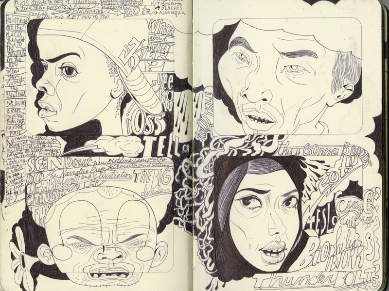 Headshots illustration communication joe morse portraits sketchbook narrative