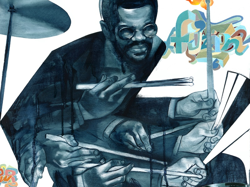 Billy Cobham joe morse art music drummer jazz portrait