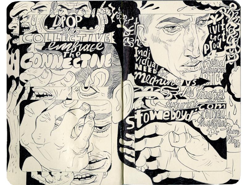 Stowe Boyd hashtag joe morse illustration type graphic business