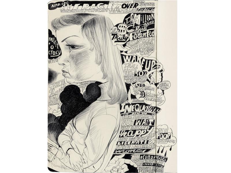 Average is Over joe morse illustration art hand drawn type portrait communication