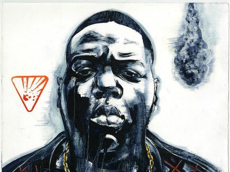 Biggie biggie hip hop portrait 90s graphic urban joe morse