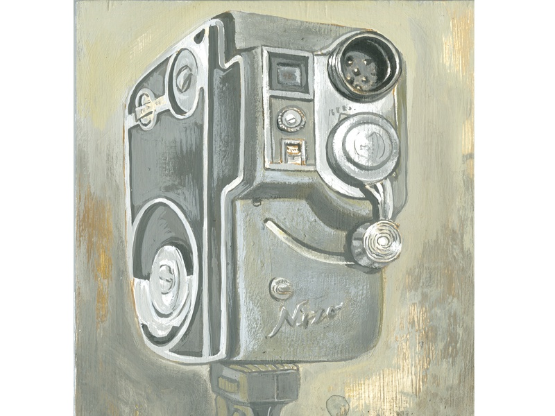 Nizo illustration joe morse film camera painting
