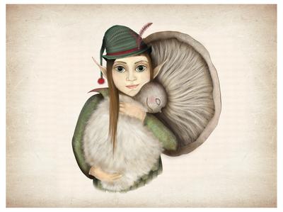 Fairy and mushroom
