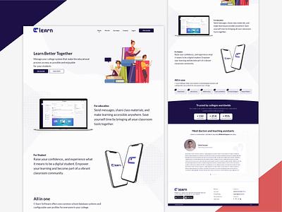 C-Learn Landing Page sliders landingpage branding illustration ui design homepage design home app ux uiux ui design