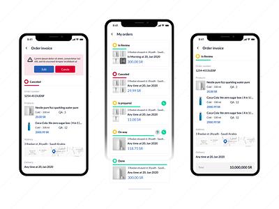 My Order - Order Invoice UI on way cancel mobile app design ui ux mobile android design ui ui design app ux uiux ui design