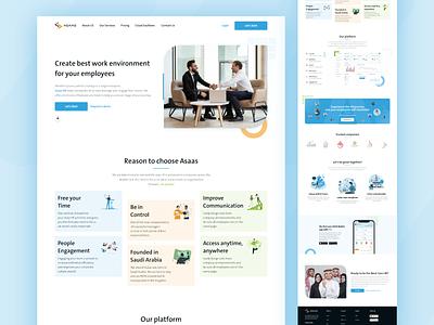 Asaas HR landing page hrms arabic company profile web landingpage illustration home app ui design ux uiux design ui