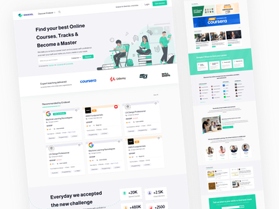 Endexel design E learning app e course articles mentors tracks courses teaching learning e learning illustration home app ux ui design uiux ui design