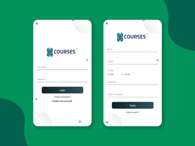 Android app X-Courses / more screen mobile android design ui