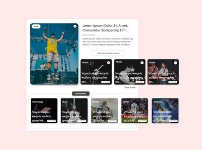 Music blog - user interest pannel