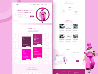 Digital Agency vector web webdesign illustration ui  ux branding uiux uidesign designer design
