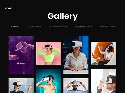 Gallery Grid illustration typography webdesign vector ui  ux branding uiux uidesign designer design