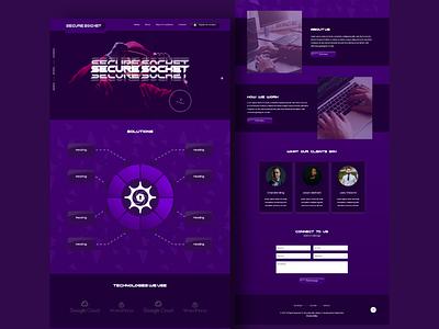 Web Design website concept web design agency cybersecurity website ui typography branding uidesign designer web development website design web designer webdesign