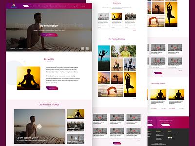 Yoga school Website UI yoga creative ui designs web designer web design agency web design websites website concept website design webdesign uidesign designer design