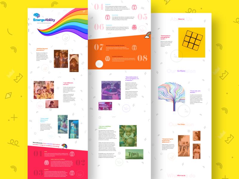 EmergeAbility - Neurodiversity Website web desgin web ui ux website web design organisation ui ux typography webdesign ui  ux uiux branding uidesign designer design