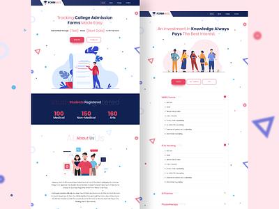Educational Website websites website design website concept website minimal web typography designer vector illustration webdesign ui  ux uidesign design
