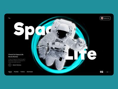 Space Life Landing Page web illustration ui typography webdesign uiux ui  ux uidesign designer design