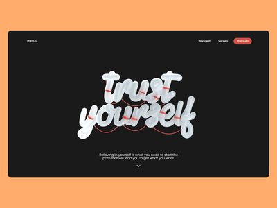 Trust Yourself Landing Page web illustration typography branding webdesign uiux ui  ux uidesign designer design