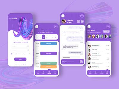 Parents Teachers Chat App minimal app ux typography webdesign uiux ui  ux uidesign designer design