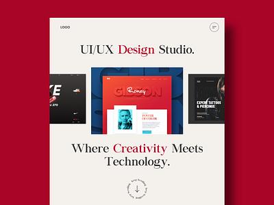 Design Studio UI icon ux typography branding webdesign uiux ui  ux uidesign designer design