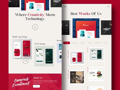 Design Studio UI web ui typography branding webdesign uiux ui  ux uidesign designer design